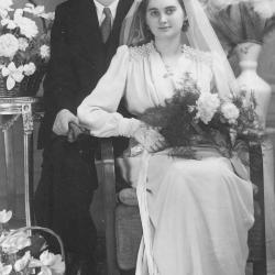 Huwelijksfoto Roger Corteville en Laura Vermaut