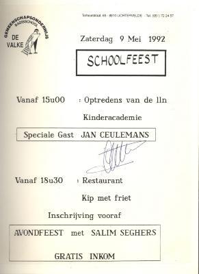 Schoolfeest, Lichtervelde, 9 mei 1992