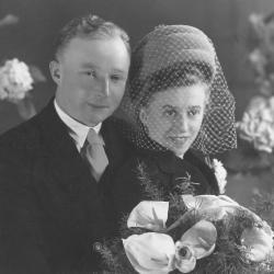 Huwelijksfoto Leon Vierstraete en Simonne (Familienaam onbekend)