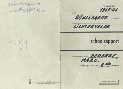 Herinneringen van Marc Dereere aan de lagere school, Lichtervelde