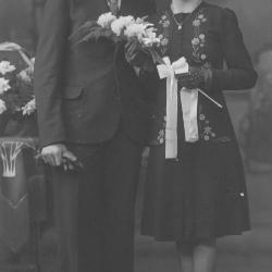 Huwelijksfoto Roger Deprauw en Marcella Corteville