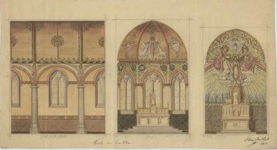 Interieurontwerp, kerk Kachtem, 1924