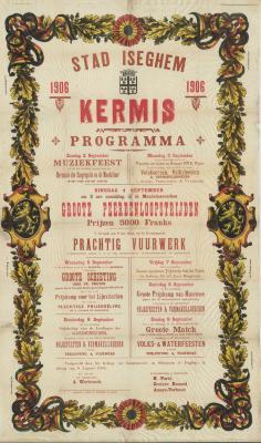 Affiche kermis, Izegem, september 1906