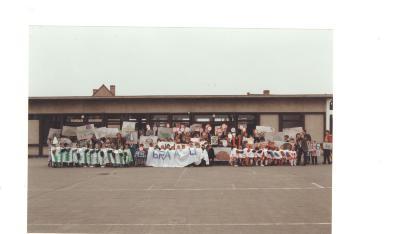 Lichterveldse kinderen zetten verkeersovertreders op de bon, Lichtervelde, 24 maart 1995