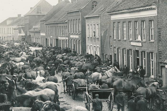 De paardenmarkt van Lichtervelde ca. 1910