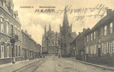 Dadizele, Moorsledestraat, 14 febr. 1915