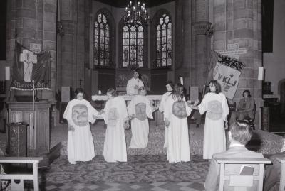 Eucharistieviering met KLJ, Moorslede 1975