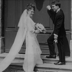 Huwelijksfoto Pierre Vierstraete en Christiane Craeynest