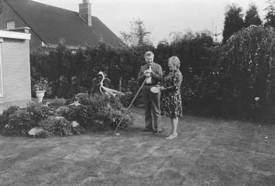 Winnaar tuinwedstrijd, Moorslede 1975