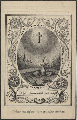 Bidprentjes, Ingelmunster, 1841