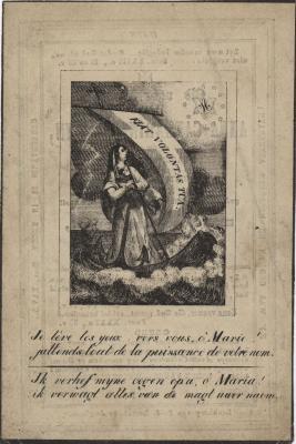 Bidprentjes, Ingelmunster, 1842
