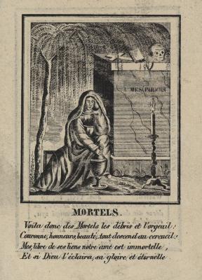 Bidprentjes, Ingelmunster, 1834