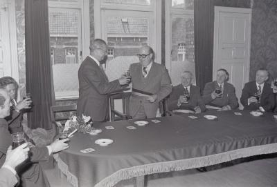 Ontvangst minister Depaepe, Staden april 1975