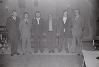 Bestuur voetbalclub The Rangers, Moorslede maart 1975