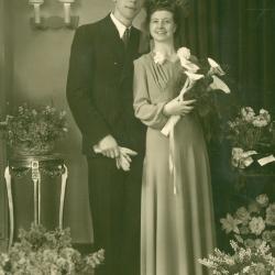 Huwelijksfoto Achiel De Forche en Marie-Jeanne Vanhaverbeke