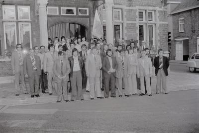 Ontvangst van Rangers op gemeentehuis, Moorslede juni 1975