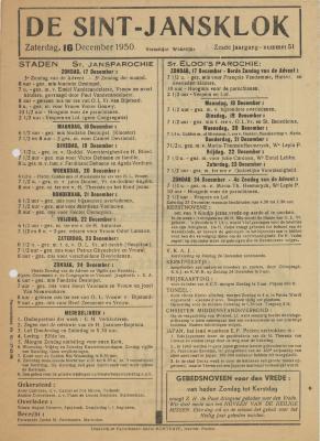 De Sint-Jansklok Staden, 16 december 1950
