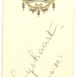 menukaart, 1936