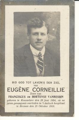 Bidprentje Eugène Corneillie, 1918