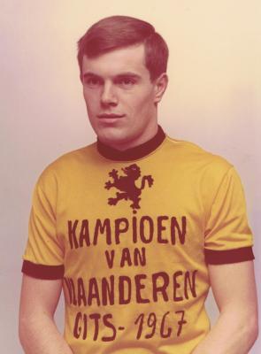 Winnaar kampioenschap van Vlaanderen Albert Vande Moortel uit Beveren, 1967, Gits