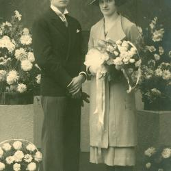 Huwelijksfoto Michel Vandenbussche en Antoinette Vandewalle