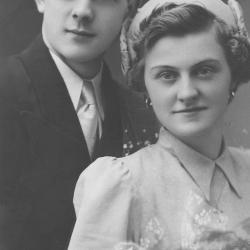 Huwelijksfoto Roger Depril en Emma Devlaminck