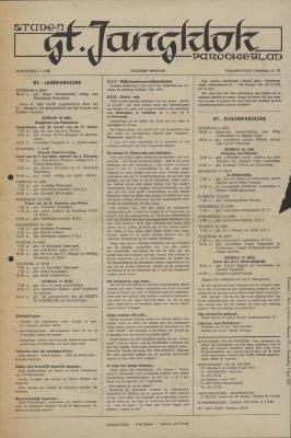 De St. Jansklok, Staden, 7 juni 1973