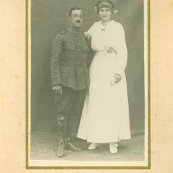Huwelijksfoto Raymond Immers en Emilia Furet