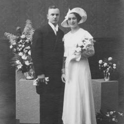 Huwelijksfoto Michel Vandenbroucke en Sylvie Carlier