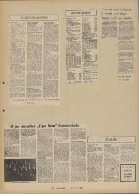 De Weekbode, 2 juni 1972 De Weekbode, 9 juni 1972 Het Nieuwsblad, 13 juni 1972 De Weekbode, 16 juni 1972