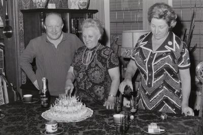 Familiefeest bij A. Lybeer, Moorslede 1974