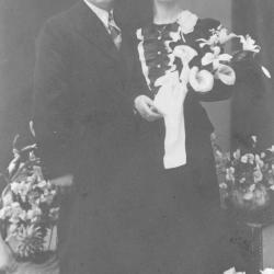 Huwelijksfoto Jules Dumoulin en Godelieve Vankeirsbilck