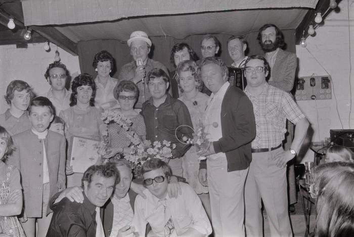 Zangwedstrijd op De Ruiter, Roeselare juli 1974