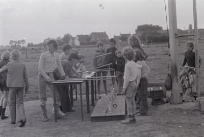 Feest op speelplein Levet Scone, Moorslede 1974