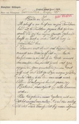Brief van Eugène Corneillie aan zijn Broer en Zuster, 1916