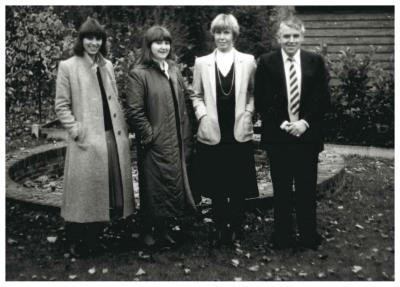 Leerkrachten, kleuteronderwijs O.-L.-Vrouwschool ,afdeling Weststraat, 1982