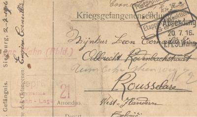 Brief van Eugène Corneillie aan zijn Broer en Zuster, 02/07/1916