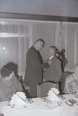 Huldiging bij firma Godderis, Roeselare december 1973
