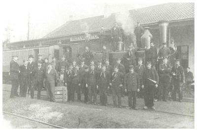 Spoorwegpersoneel, Ingelmunster, ca 1920