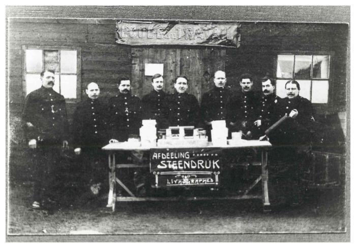 School van Zeist, 1914-1916, afdeling steendruk