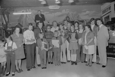 Zangwedstrijd in zaal The Ranch, Moorslede oktober 1973