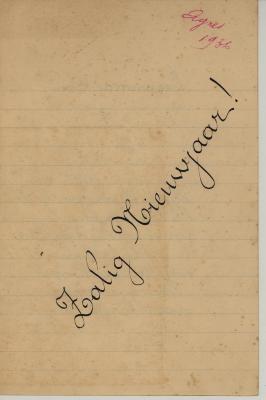 Nieuwjaarsbrief van Agnes Hoornaert, Hooglede, 1 januari 1936