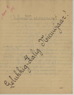 Nieujaarsbrief van Maria Hoornaert, Hooglede, 1 januari 1937