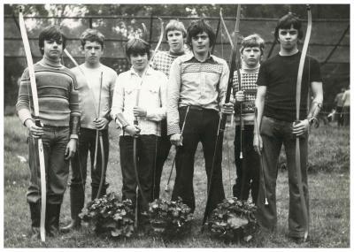 Jonge boogschutters, Sint-Sebastiaansgilde, Ingelmunster, ca 1977