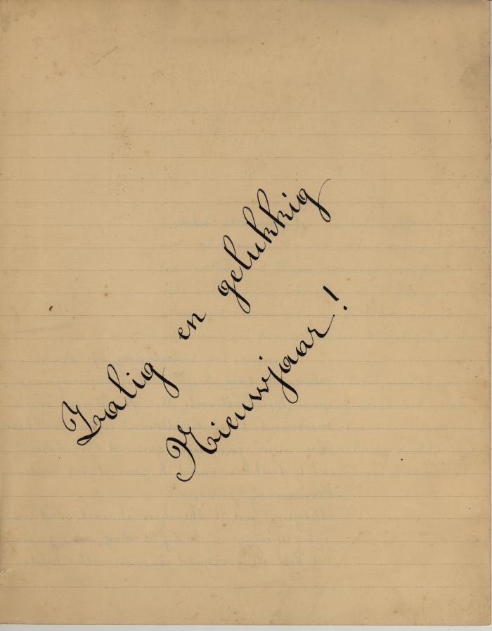 Nieuwjaarsbrief van Maria Hoornaert, Hooglede, 1 januari 1936
