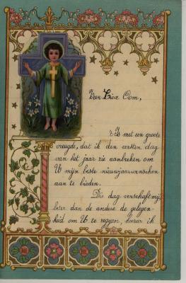 Nieuwjaarsbrief André Hoornaert, Hooglede-Gits, 1 Januari 1935