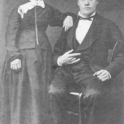 Huwelijksfoto van Emiel Vandeputte en Adèle Deldaele