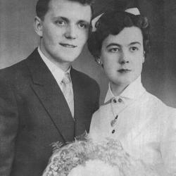 Huwelijksfoto Roland Vandoorne en Yvette Vermote