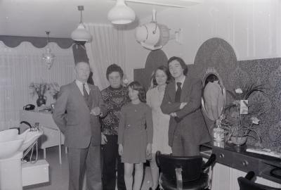 Opening kapsalon Patrick, Moorslede februari 1973