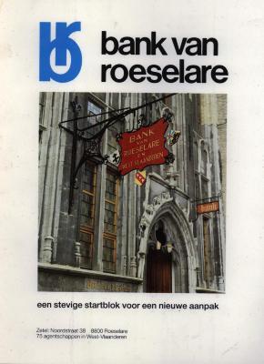 Publiciteit van de bank van Roeselare, Roeselare, +/- 1975-85
